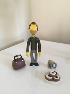World of Springfield WOS Simpsons Playmates Figure LENNY COMPLETE