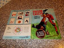 ALBUM CALCIATORI FOLGOR CALCIO 1964 1965 LA FOLGORE ORIG.COMPLETO(-7 FIG) BELLO