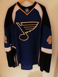 David Backes Reebok Authentic Jersey Size 58+ St. Louis Blues