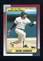 DEION SANDERS 1989 TOPPS DEBUT ROOKIE #108  NY YANKEES  BASEBALL RC CARD