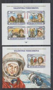 F838. Burundi - MNH - 2012 - Space - Spaceships - Valentina Terechkova - Imperf