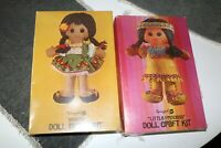 2 Vintage Springbok Doll Craft Kits - Little Princess & Posita - 1970