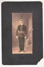 Photograph: Late 1800's Fraternal Lodge Member in Uniform with Sword