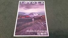 1987 TOYOTA Nouvelle Corolla Inc GT-I 16/50 ANS/Multi Vanne Moteurs UK brochure