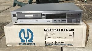 1985 Pioneer PD-5010 Stereo Compact Disc Player NR MINT RARE SILVER GREEN LED