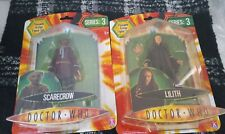 2 DR WHO FIGURES, POSEABLE, SERIES 3, SCARECROW, LILITH, NEW IN BOX, 5+