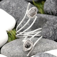 Adjustable - Herkimer Diamond 925 Sterling Silver Ring s.8.5 Jewelry 7960