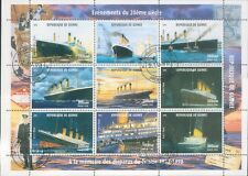 Republic of Guinea Titanic Commemorative Stamp Block 1998 v2
