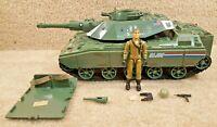 Complete Vintage 1983 Hasbro GI Joe Vehicle MOBAT Tank with Swivel Arm Steeler