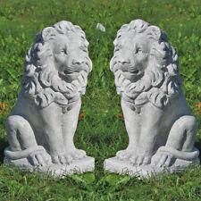 Löwenpaar, Löwen, links rechts blickend, Gartendeko