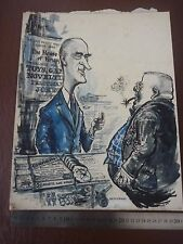 "Krupps post WW2 satire grand pen & ink ORIG 20th C illus ""Bill Hewison"" art Edito"