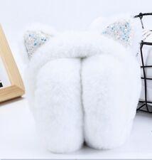 Child Girls Bling Soft Winter Fluffy Faux Fur Protect Ear Warm Earmuff Headband