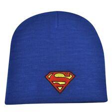 Superman Cuffless Knit Beanie Toque Winter Cartoon DC Comics Book Super Hero Blu