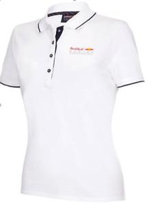 Red Bull Racing Damen Poloshirt Polohemd Weiß Gr. XS - S - M - L