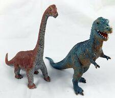 """Dinosaur Lot of 2 - Apatosaurus & Allosaurus Aaa Toys China 6""""+ Very Good"""