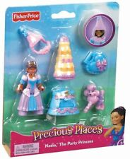 Fisher Price Precious Places Nadia The Party Princess Figure & Accessories ~ NEW