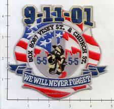 New York - 9-11-01 Box 8087 Vesey St and Church St NY Fire Patch WTC 343