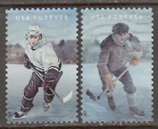 Scott #5252-53 Used Set of 2, History of Hockey