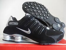 NIKE SHOX NZ EU BLACK-METALLIC SILVER-BLACK SZ 11 [501524-012]