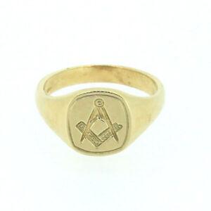 9ct Yellow Gold Masonic Ring MAS1