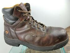 Timberland Pro Series Brown Leather Lace Up Steel Toe Work Boots Mens 11.5M