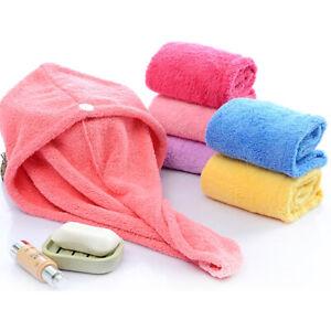 1pc Magic Microfiber Shower Cap Hair Fast Drying Dryer Towel  Bath Wrap Hat