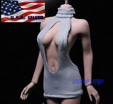 "1/6 Women Sexy Mini Dress For 12"" Phicen Hot Toys Verycool Female Figure ❶USA❶"