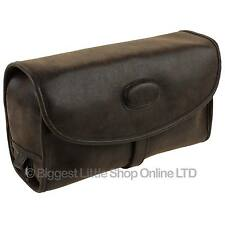 NEW Mens Classic Faux Leather Hanging Washbag by Danielle TRAVEL Toiletries