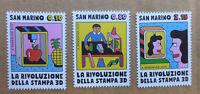 2015 SAN MARINO SET OF 3 PRINTING MINT STAMPS MNH