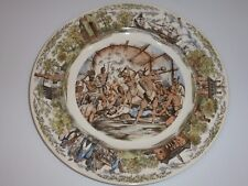 Wedgwood Jamestown Virginia Plate, Pocahontas/John Smith Scene