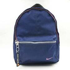 Womens Vintage Nike Just Do It Spell Out Swoosh Mini Backpack Bag Navy 4417