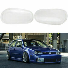 FOR 99-05 VW MK4 GOLF R32 REPLACEMENT GLASS HEADLIGHT LENS COVER LH+RH PAIR