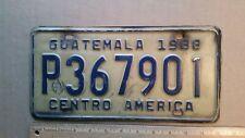 License Plate, Guatamala, Central America, 1988, P 36 7901