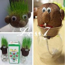 Hot Sale  Magic Grass Plant Pot Lovely Grass Head Doll DIY Kid Education Toy っ