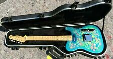 Fender Paisley Telecaster Blue Electric Guitar 2007-2008 Case JAPAN