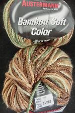 (83 €/ kg): 450 g Austermann BAMBOU SOFT COLOR, grün/braun 106 #2731