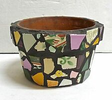 Flower Pot with Antique Tiles Folk Art