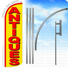 Antiques Windless Swooper Flag 15 Kit Feather Banner Sign Yq