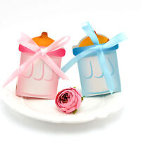 10Pcs Baby Shower Birthday Milk Bottle Candy Boxes Boys Girls Gift Party Favor