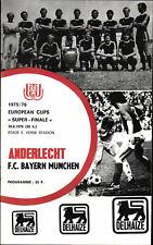 European Super Cup 30.08.1976 RSC Anderlecht - FC Bayern München