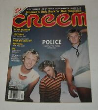 1982 Creem Magazine Police Black Sabbath Soft Cell U2 Rod Stewart Calendar Page