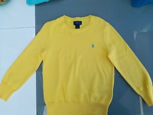Genuine Ralph Lauren Boys or girls Jumper Age 6 Yellow New Without Tags