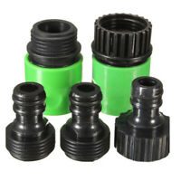 Garden Hose Water Pipe Quick Connector Tube Fitting Tap Adapter Green+Black