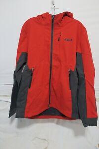 Louis Garneau Enertec Hoodie Jacket Men's Medium Red/Grey