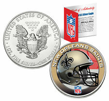 NEW ORLEANS SAINTS 1 Oz American Silver Eagle $1 US Coin Colorized NFL LICENSED