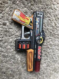 Vintage Japanese Tin Toy Gun