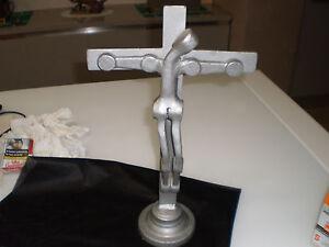 Crocefisso crocifisso moderno da tavolo artistico ferro arte stilizzato
