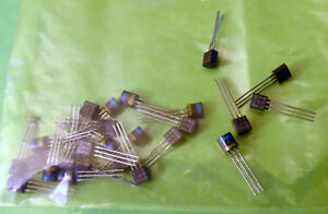 25 x  National Semiconductor  MPSH10 Transistor RF Low Noise  NPN, 650MHz