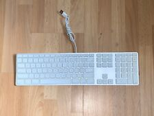 Apple A1243 Aluminum Wired USB Keyboard with Numeric Keypad