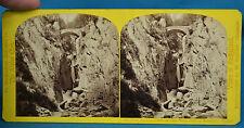 1860s Suisse Stereoview Pont Gorge De L'Eau Noire Martigny Alpine Club W England